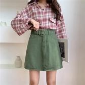 牛仔裙 2020新款韓版學生百搭高腰牛仔半身裙女夏大碼胖mm顯瘦A字短裙子