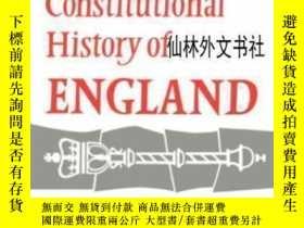 二手書博民逛書店【罕見】1961年出版 The Constitutional History Of EnglandY27248