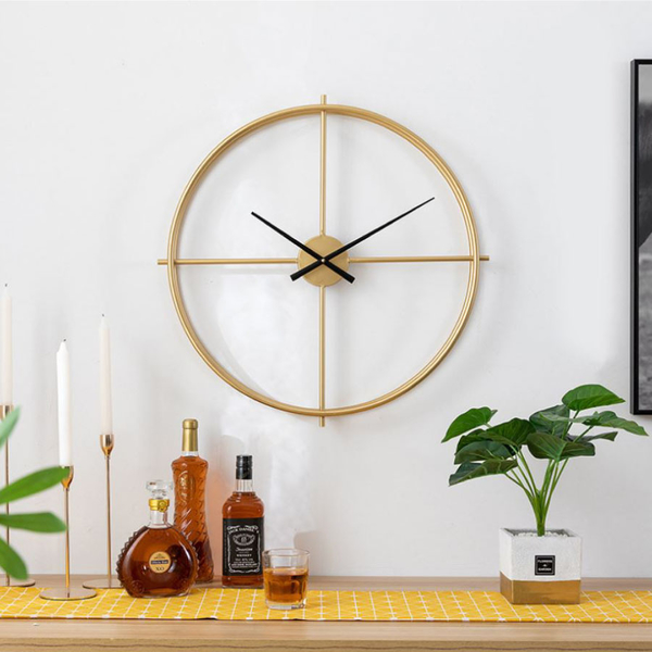 現+預購 北歐風 時尚 輕奢 極簡風 大尺寸 時鐘 立體 金屬鐵藝 靜音 大型 掛鐘 牆面裝飾 設計師款