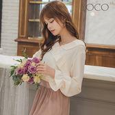 東京著衣【YOCO】韓妞LOOK浪漫荷葉領雪紡上衣-S.M.L(181939)