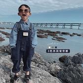 幼悠男童寬鬆牛仔吊帶褲夏2020新款兒童長褲中童褲寶寶連體褲子 【雙十二狂歡】