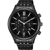 CITIZEN 星辰 亞洲限定光動能計時手錶-黑/42mm CA4415-81E