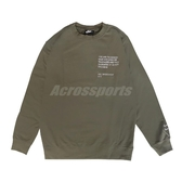 Nike 長袖T恤 NSW Swoosh Top 綠 白 男款 大學T 運動休閒 【ACS】 CU4035-380