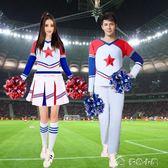 啦啦隊服裝啦啦隊服裝男女套裝足球寶貝學生成人啦啦操長袖衣服拉拉隊演 多色小屋