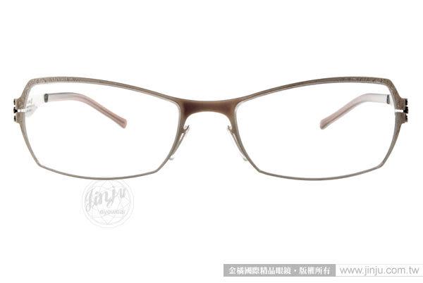 Ic! Berlin 光學眼鏡 ALPENROSE BRONZE (淡金-棕) 德國薄鋼工藝 平光鏡框 # 金橘眼鏡