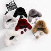 兒童皮草雷鋒帽男女童狐貍毛冬季寶寶戶外保暖防寒加厚帽子潮