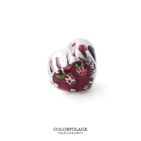 組合字母串珠手鍊 甜美立體草莓愛心造型穿式鋼墜手環 抗過敏氧化 柒彩年代【NT44】CHARMS
