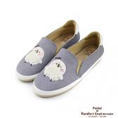 Paidal x 卡娜赫拉的小動物 - 毛絨3D立體P助休閒鞋樂福鞋