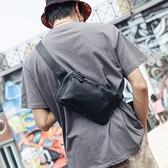 潮男斜背包胸前小包手機包韓版側背包街頭腰包時尚胸包【千尋之旅】
