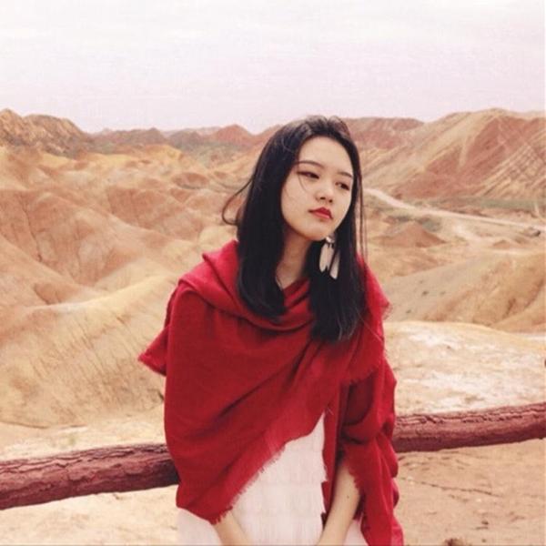 沙漠圍巾女海邊防曬披肩民族風超大棉麻純色絲巾夏季薄款紅紗巾