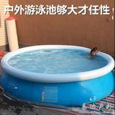 大型成人充氣游泳池兒童加高加厚家庭家用超大號戶外戲水池養魚池 晴川生活館NMS
