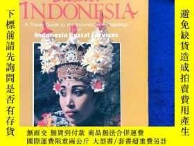 二手書博民逛書店英文原版罕見印度尼西亞官方旅遊指南《A Travel Guide