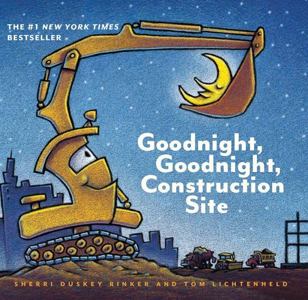 【寶寶睡前工程車故事】GOODNIGHT GOODNIGHT CONSTRUCTION SITE/硬頁書《主題:交通工具.床邊故事》