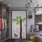 身高尺壁貼【WD-002 小鹿斑比】藝術壁貼 櫥窗設計 無毒無痕 不傷牆面 創意壁貼 英國設計 童趣風