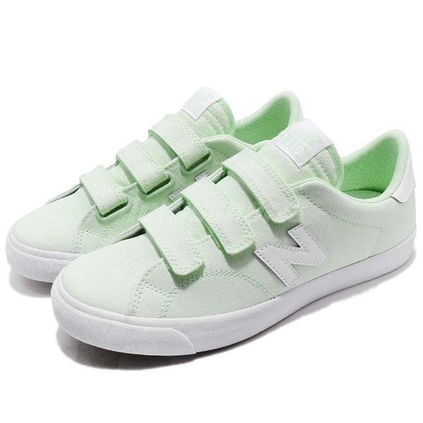 New Balance 休閒鞋 NB 210 N字鞋 綠 粉綠 白 帆布 魔鬼氈 運動鞋 女鞋【ACS】 AM210VGRD