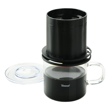 Tiamo 圓錐濾器獨享杯-黑色320cc 免用濾紙