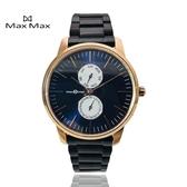 【完全計時】Max Max 原廠公司貨 MAS7022-2 璀璨藍金雙眼系列 316L不銹鋼錶帶