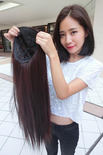 魔髮樂Mofalove 半罩假髮 超自然長直髮 超厚髮量 一片搞定 短髮救星 無斷層 BZ