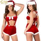衣美姬 ♥歐美時尚聖誕趴 變裝派對 情趣內衣 簍空聖誕套裝 角色扮演 聖誕節 3件組