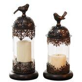 歐式燭臺擺件浪漫燭光晚餐道具裝飾蠟燭臺復古美式少女心燭臺風燈 熊貓本