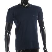 BURBERRY 輕著V領貼身透氣上衣(深藍色)085183-4