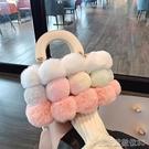 毛毛包毛絨絨手提包小包包女年秋冬季新款時尚單肩包可愛毛毛斜背包 新年優惠