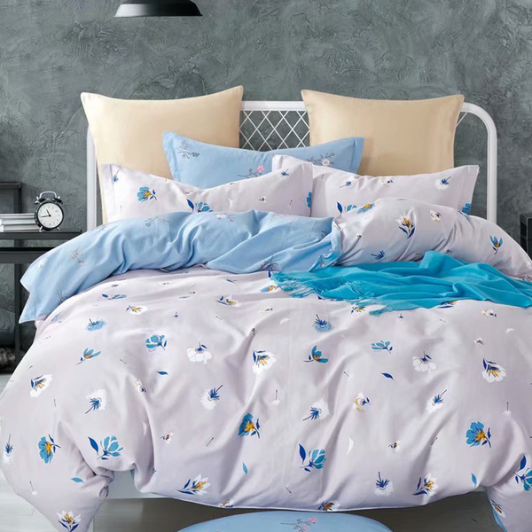 床包 / 單人【雪花森林】含一件枕套  100%精梳純棉  戀家小舖台灣製
