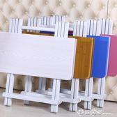 摺疊桌餐桌家用小戶型可摺疊小方桌4人吃飯桌擺攤桌陽臺簡易桌子igo    西城故事