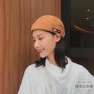 韓版街頭流氓帽子棒球帽復古無檐瓜皮帽男女【時尚大衣櫥】
