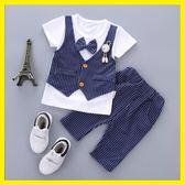 新年大促3-6-7-8-9個月0-1-2歲半夏季男嬰兒衣服男寶寶西裝夏裝套裝韓版潮 森活雜貨