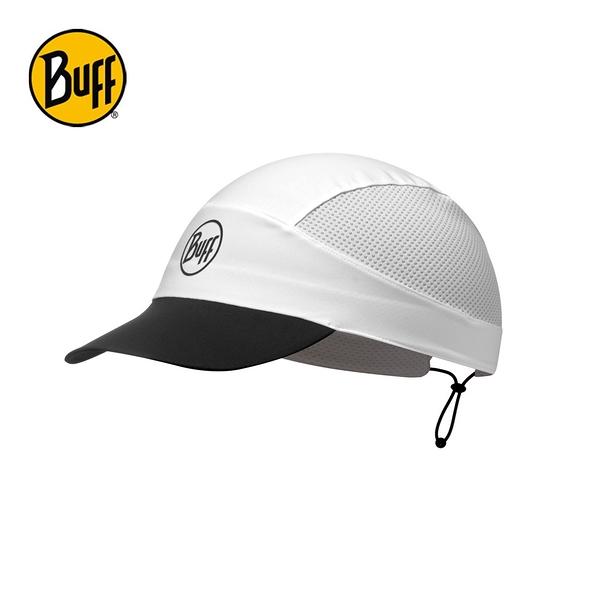 [好也戶外] BUFF 可捲收跑帽 FASTWICK 極速排汗 知性白 NO.113702-000