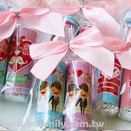 【雙雙對對婚禮主題曼陀珠(二入)喜糖】-給你好心情/送客創意糖果幸福朵朵