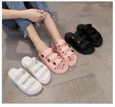 2020新款韓版魔術貼拖鞋女夏時尚外穿百搭鬆糕厚底網紅沙灘涼拖鞋