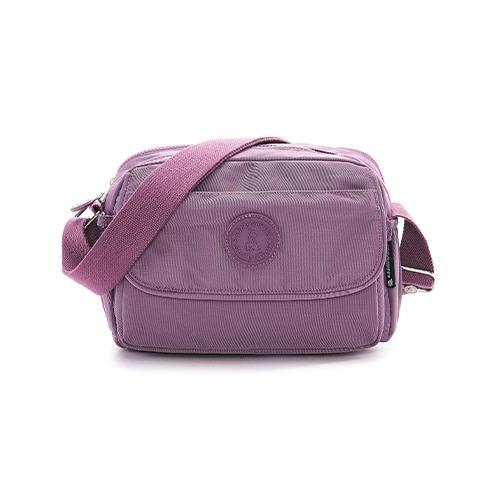 B.S.D.S冰山袋鼠 - 時光旅人 - 知性休閒多隔層斜背包 - 深芋紫【B0025-2U】