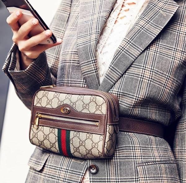 ■現貨在台 ■ 專櫃88折■ Gucci  全新真品 517076 Ophidia GG Supreme 腰包 75/ 85cm 尺寸可選