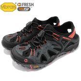 Merrell 戶外鞋 All Out Blaze Sieve 運動鞋 越野 登山 黑 橘 休閒鞋 涼拖鞋 女鞋【PUMP306】 ML12732