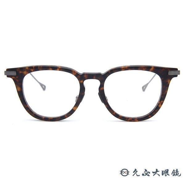 NATIVE SONS 眼鏡 Hughs (霧琥珀-鐵灰) 日本手工眼鏡 近視眼鏡久必大眼鏡