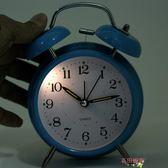時尚床頭懶人創意大鈴聲學生鬧鐘走時靜音帶夜燈指針鬧表 全館八八折鉅惠促銷