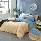 鴻宇 雙人加大兩用被套床包組 100%精梳純棉 日光晨藍 台灣製2195