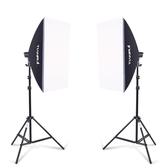攝影燈單燈頭柔光箱2燈套裝攝影棚攝影燈柔光箱套裝攝影器材補光燈 LX 聖誕節