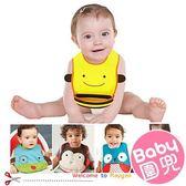 SMART KID'S 超可愛動物造型寶寶圍兜/柔軟易洗大嘴圍兜反穿衣/吃飯兜