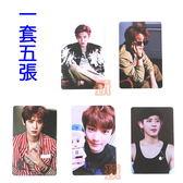 現貨👍朴燦烈 EXO 偶像卡 愛豆卡 照片硬卡 明星小卡組(共5張) E642-K【玩之內】吳世勳