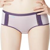 思薇爾-K.K.Fit系列M-XL素面中低腰平口內褲(淡粉紫)
