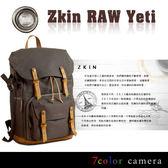 《7color camera》Zkin RAW Yeti 後背單眼相機包-軍綠色『滿千折百-限時限量』