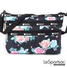 LeSportsac - Standard 橫式三層拉鍊斜背包 (夢幻花園) 3352P F936
