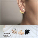 殺氣裝備~三角幾何刺蝟雙面耳環602111/3色