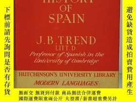 二手書博民逛書店西班牙語言與歷史罕見The Language and History of Spain by J. B. Tren