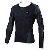 Mizuno 美津濃 BG7000T 黑色 緊身衣上袖上衣 運動 壓縮衣 上衣 長袖 長T K2MJ6B6190