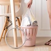 塑料鏤空壓圈垃圾桶衛生間無蓋垃圾簍家用客廳廚房大號紙簍垃圾筒 名購居家