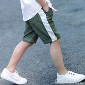 男童短褲夏裝五分褲七分褲子夏季兒童中大童純棉薄款外穿棉麻中褲『CR水晶鞋坊』